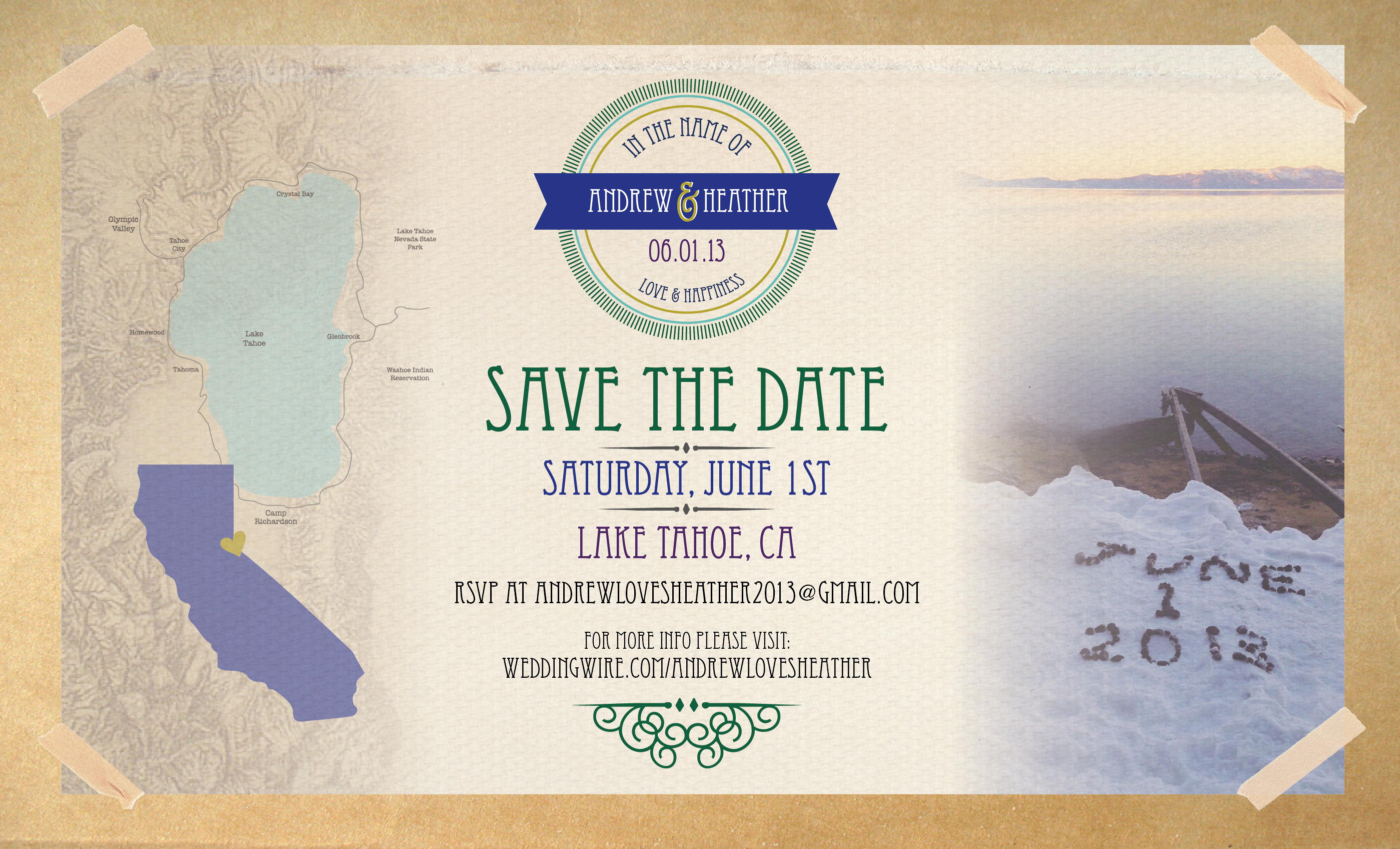 Andrew Heather Save the Date – Save the Date for Destination Weddings
